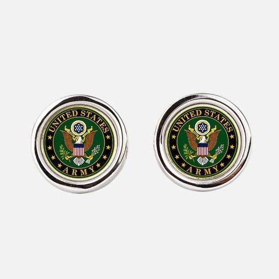 U.S. Army Symbol Round Cufflinks