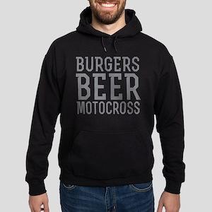 Burgers Beer Motocross Hoodie (dark)