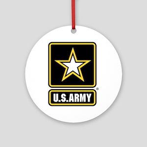 US Army Gold Star Logo Round Ornament