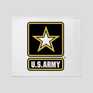 US Army Gold Star Logo Throw Blanket