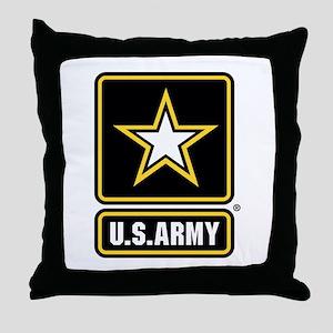US Army Gold Star Logo Throw Pillow