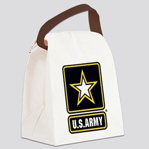 US Army Gold Star Logo Canvas Lunch Bag