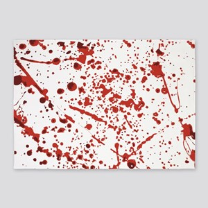 Blood splatter 5'x7'Area Rug