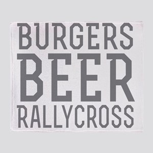Burgers Beer Rallycross Throw Blanket