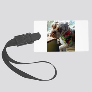 Olde English Bulldogge Large Luggage Tag