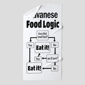 Havanese Food Beach Towel