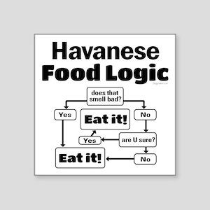 "Havanese Food Square Sticker 3"" x 3"""