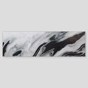 modern black white marble Bumper Sticker