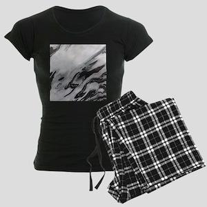 modern black white marble Women's Dark Pajamas