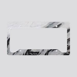 modern black white marble License Plate Holder