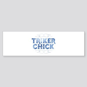Triker Chick, Distressed Bumper Sticker