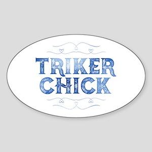 Triker Chick, Distressed Sticker