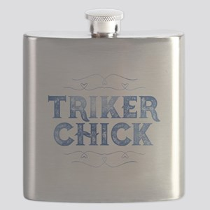 Triker Chick, Distressed Flask