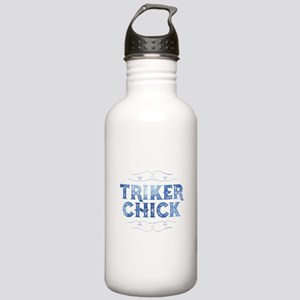 Triker Chick, Distressed Water Bottle