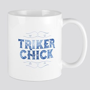 Triker Chick, Distressed Mugs