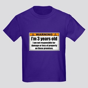 Funny Warning: I'm 3 Years Old T-Shirt