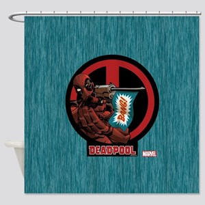 Deadpool Flag Shower Curtain