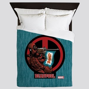 Deadpool Flag Queen Duvet