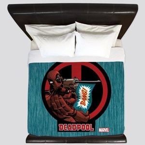 Deadpool Flag King Duvet