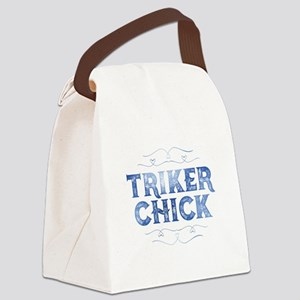 Triker Chick, Distressed Canvas Lunch Bag