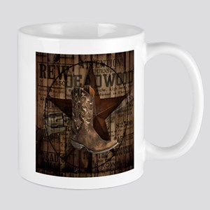 grunge cowboy boots western country Mugs