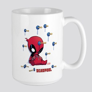 Deadpool Toy Darts Large Mug