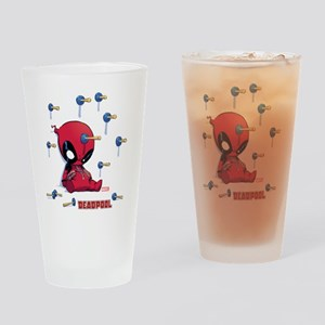 Deadpool Toy Darts Drinking Glass