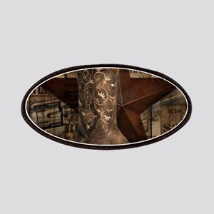 grunge cowboy boots western country Patch