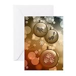 Hoppy Holidays Ornaments Greeting Cards (pk Of 20)