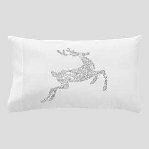 Filigree Silver Metallic Christmas Rei Pillow Case
