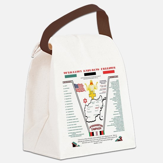 AFGHANISTAN WAR OPERATION ENDURIN Canvas Lunch Bag