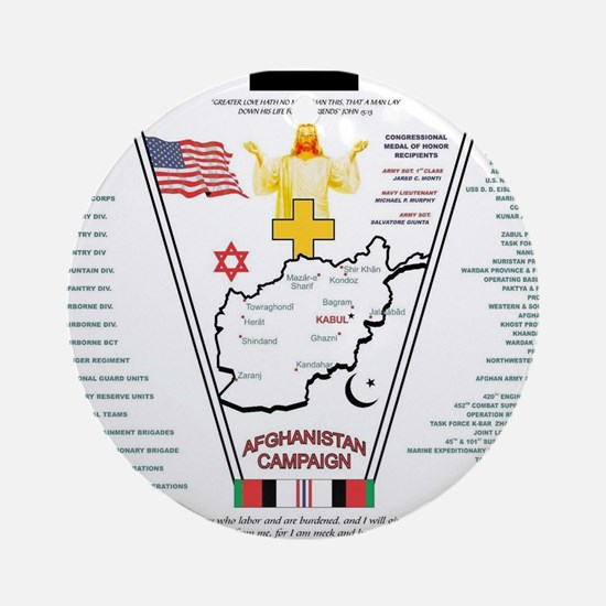 AFGHANISTAN WAR OPERATION ENDURING  Round Ornament