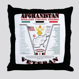 AFGHANISTAN WAR OPERATION ENDURING FR Throw Pillow