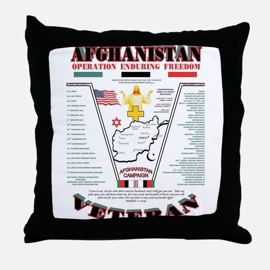 AFGHANISTAN WAR OPERATION ENDURING FR Throw Pillow
