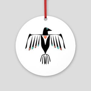 Native American Thunderbird Round Ornament