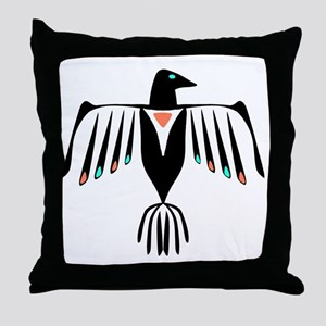 Native American Thunderbird Throw Pillow