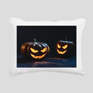 halloween pumpkins Rectangular Canvas Pillow