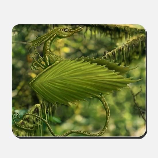 Earth Leaf Dragon Mousepad