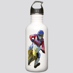 Motocross Driver Stainless Water Bottle 1.0L