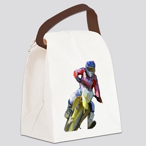 Motocross Driver Canvas Lunch Bag