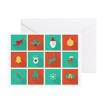Tripawds Christmas Icon Greeting Cards (pk Of 10)