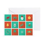 Tripawds Christmas Icon Greeting Cards (pk Of 20)