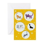 Tri-Kitty Greeting Cards (pk Of 20)