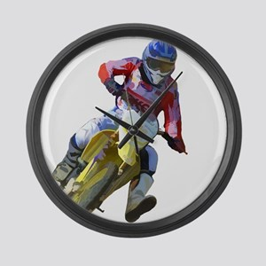 Motocross Driver Large Wall Clock