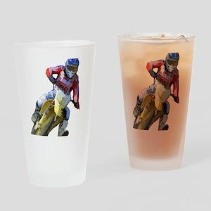 Motocross Driver Drinking Glass