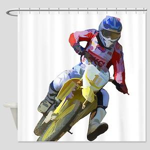 Motocross Driver Shower Curtain