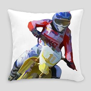 Motocross Driver Everyday Pillow