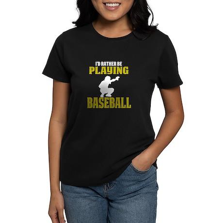 Funny Baseball Catcher T Shirt I'd R T-Shirt