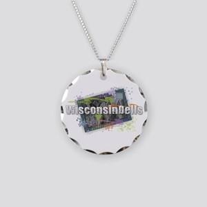 Wisconsin Dells Necklace Circle Charm