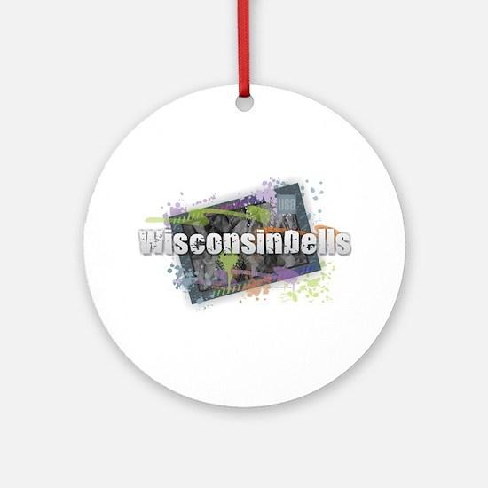 Wisconsin Dells Round Ornament
